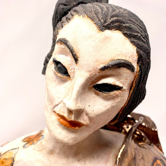Late 20th Century Theo Samuels Japanese Woman Sculpture For Sale - Image 9 of 13