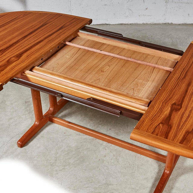 Fabric 1970s Teak Dining Table & Chairs For Sale - Image 7 of 13