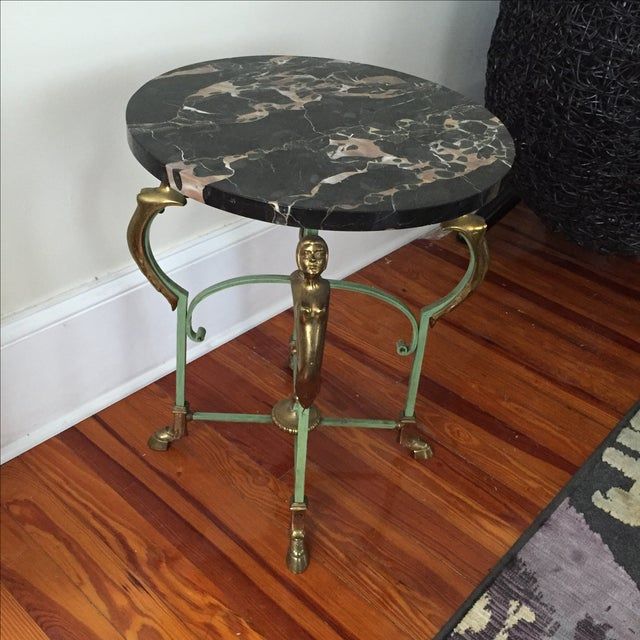 Antique French Marble Table - Image 9 of 9