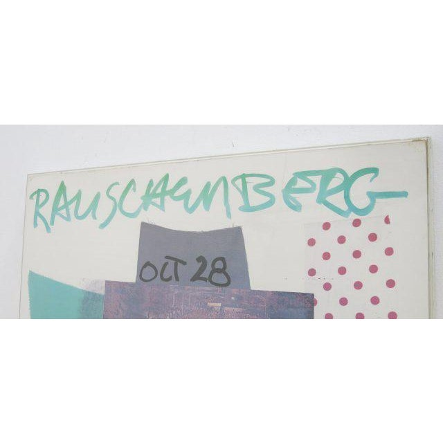 "Mid-Century Modern Robert Rauschenberg Lithograph Poster, ""The Cloister Series,"" 1966 For Sale - Image 3 of 6"