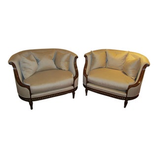 Modern Contemporary Elegant Love Seats by Marge Carson- a Pair For Sale