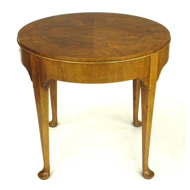 "Baker Furniture ""Milling Road"" Figured Walnut Regency Side Table - Image 4 of 10"