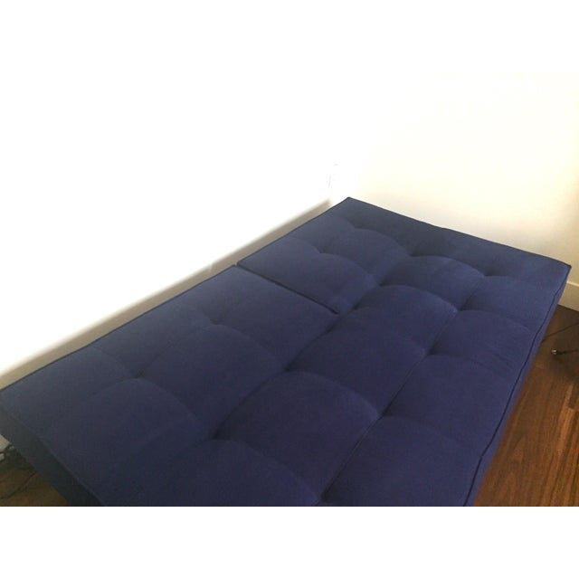 Abc Carpet & Home Crashpad Divided Daybed Sofa in Navy For Sale - Image 10 of 11