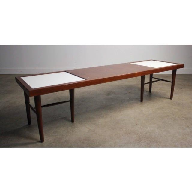 Mid Century Modern American Of Martinsville Tile Inlay Coffee Table For