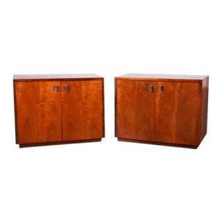 Jack Cartwright Attriubuted Mid Century Walnut Nightstands - a Pair For Sale
