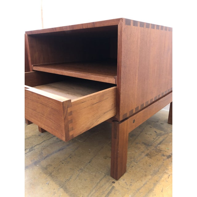 Wood Danish Nightstands by Johannes Aasbjerg - a Pair For Sale - Image 7 of 8