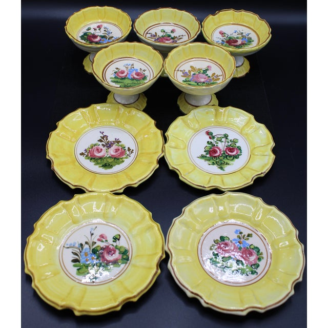 1940s Italian Dessert Plates and Compotes For Sale - Image 9 of 10