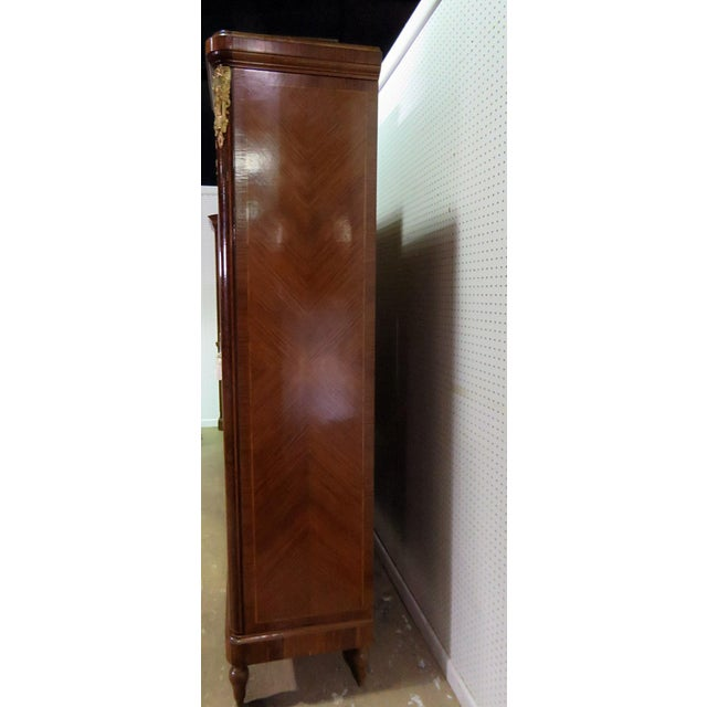Gold Regency Style Inlaid Armoire For Sale - Image 8 of 13