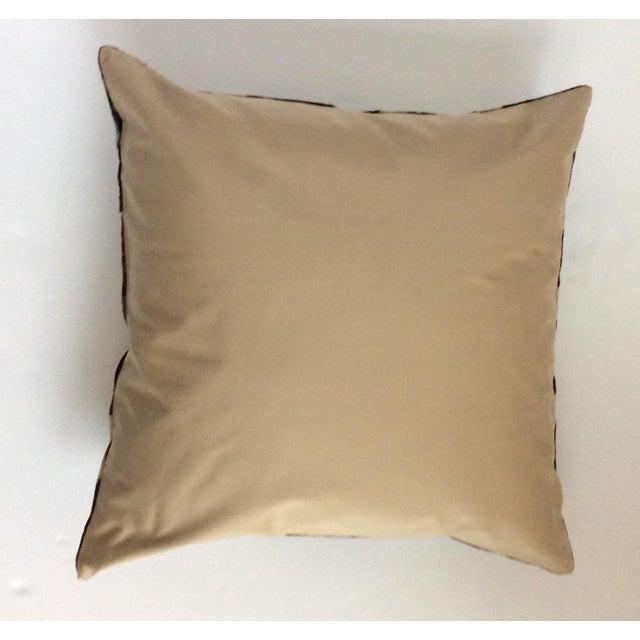 Maroon Silk Velvet Ikat Pillow - Image 3 of 4