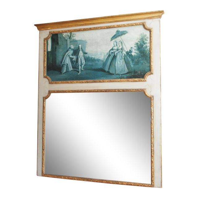 19th Century French Trumeau Mirror - Image 1 of 8