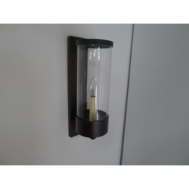 Contemporary Hurricane Sconces Shorter Hurricane by Paul Marra - a Pair For Sale In Los Angeles - Image 6 of 9