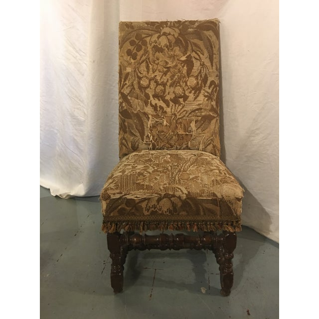 Wood Antique Louis XVIII Period Side Chairs With 19th Century Upholstery - a Pair For Sale - Image 7 of 8