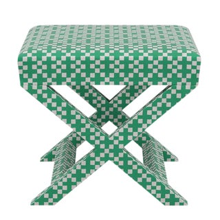X Bench in Green Hopscotch For Sale