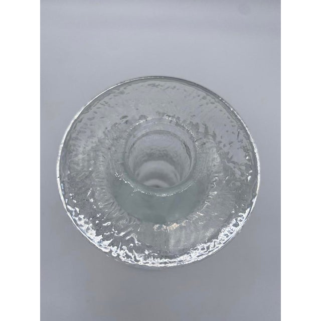 "Glass Mid Century Timo Sarpaneva for Iittalia Glass ""Festivo"" Candlestick Holders - Pair For Sale - Image 7 of 8"