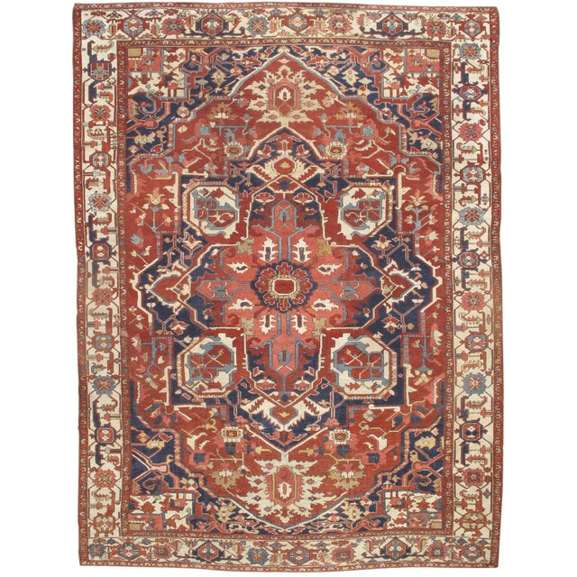 "Pasargad NY Antique Persian Serapi Rug - 9'8"" x 13'4"" For Sale"
