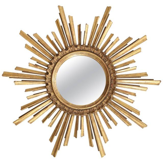 Giltwood Sunburst Mirror For Sale - Image 9 of 9