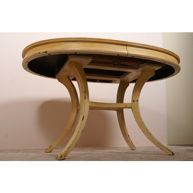 Oval Yellow Kitchen Table - Image 4 of 6