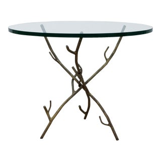 Faux Bois Branch Form Cocktail Table For Sale