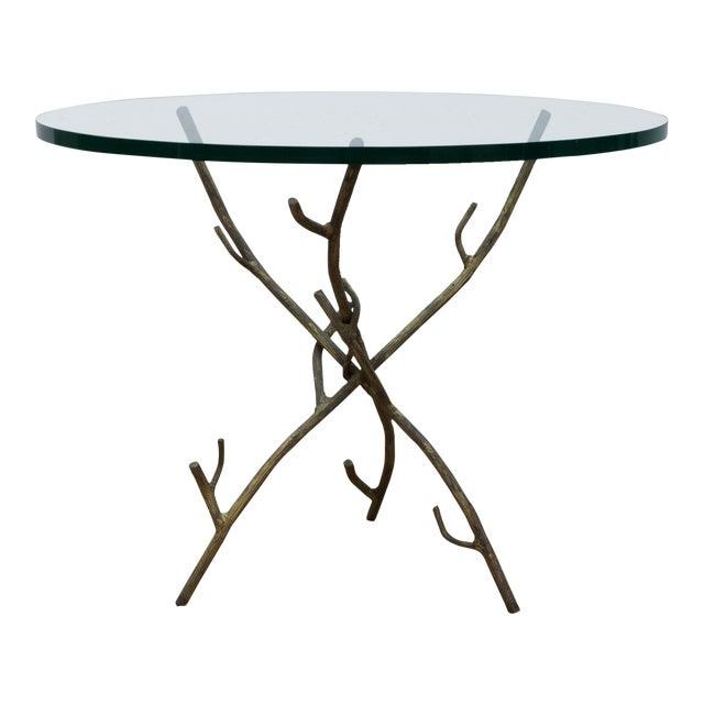 Faux Bois Branch Form Cocktail Table For Sale