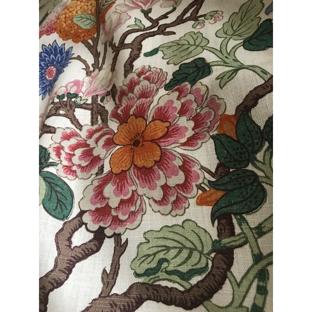 Orange G P & J Baker Magnolia Colorful Linen Fabric - 10 Yards For Sale - Image 8 of 11