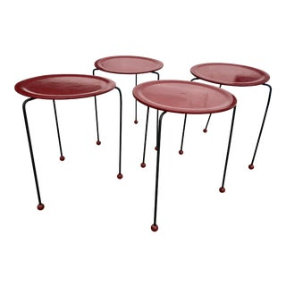 1950s Mid-Century Modern Tony Paul Stacking Side Tables - 4 Available For Sale