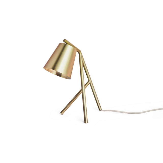 Not Yet Made - Made To Order Table Lamp Brushed and Lacquered Brass For Sale - Image 5 of 6