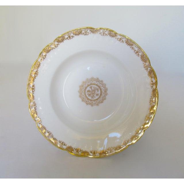 Vintage BMdeM, L. Strauss & Sons for Limoges Gilt Medallion Dinnerware - 60 Pieces For Sale - Image 10 of 13