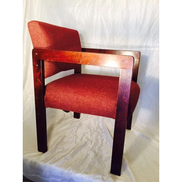 1970's Style Wood and Upholstered Chair - Image 5 of 6