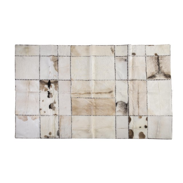 """Hand Stitched Goatskin Patchwork Area Rug - 5'1"""" x 8'1"""" - Image 1 of 9"""