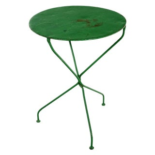 French Green Cafe Table For Sale