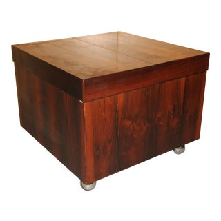 Scandinavian Rosewood Cube Bar/Coffee Table For Sale