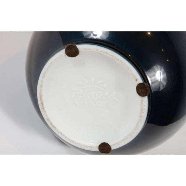 1950s Richard Ginori Blue Urn Shaped Porcelain Vase For Sale - Image 5 of 6