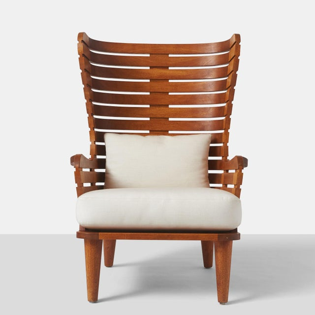Contemporary A LINEAR WING CHAIR EXCLUSIVELY FOR ALMOND & CO. For Sale - Image 3 of 11
