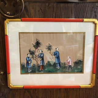 '4' Chinese Export Paintings on Silk - Set of 4 Preview