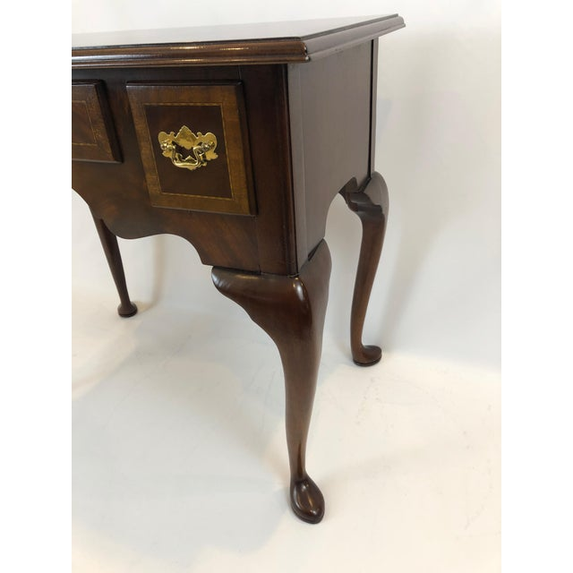 1990s 1990s Councill Furniture Flame Mahogany Lowboy For Sale - Image 5 of 11