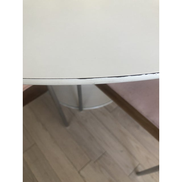 Burke 1960s White Tulip Dining Table - Image 9 of 12