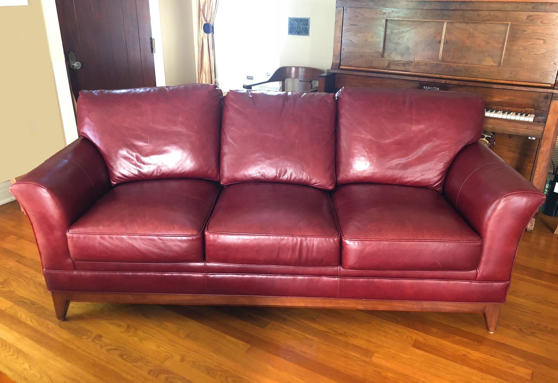 Stickley Stickley Keeler Leather Sofa For Sale   Image 4 Of 4