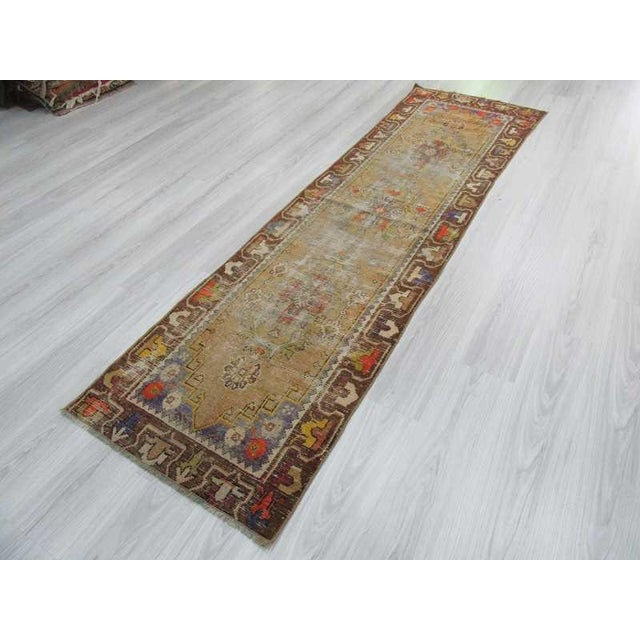 Worn Vintage Turkish Runner Rug - 2′6″ × 8′8″ - Image 5 of 6