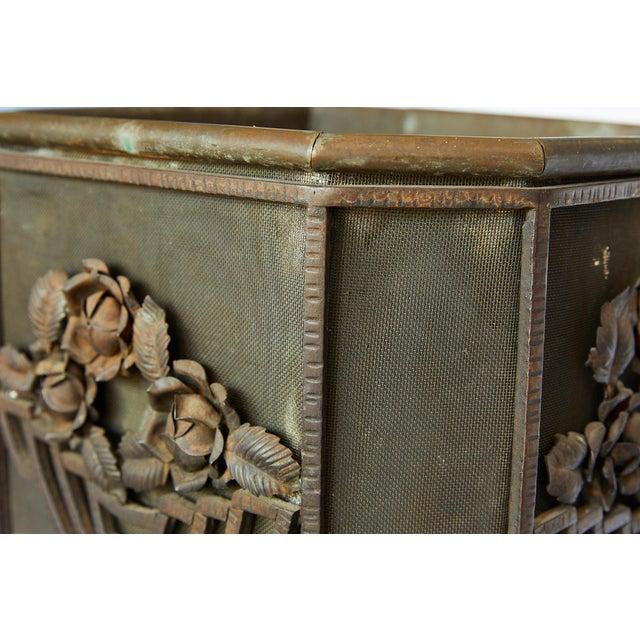 Art Deco Iron Pedestal Planter For Sale - Image 12 of 13