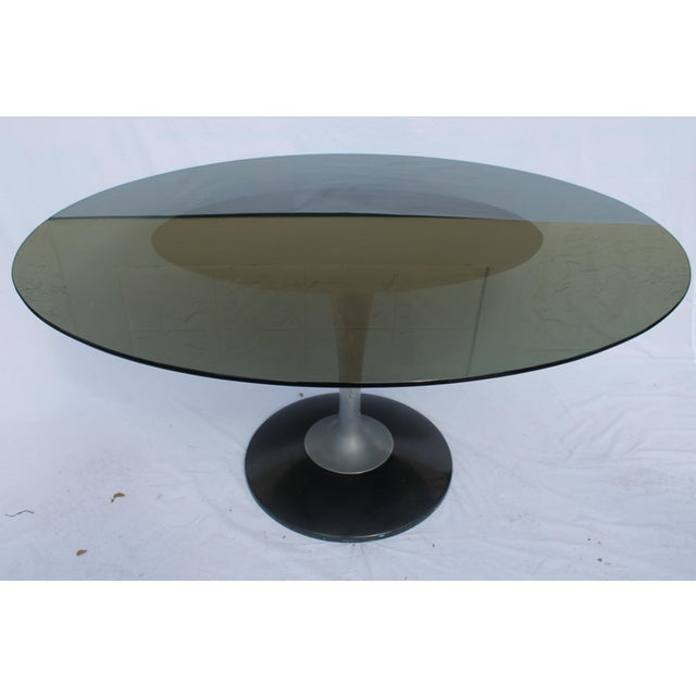 1960s Knoll-Style Black Dining Set - Image 9 of 11