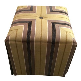 Taylor King Striped Ottoman from Kenneth Ludwig Chicago For Sale