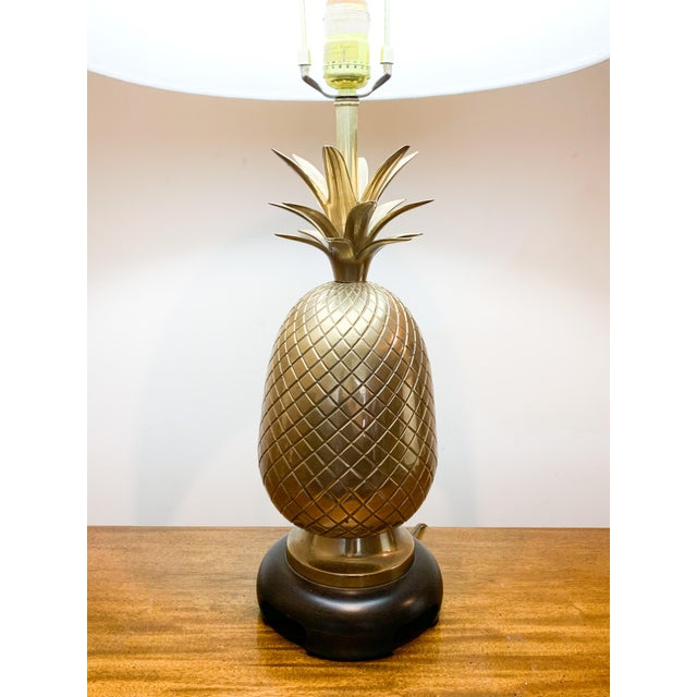 1960s Frederick Cooper Brass Pineapple Table Lamp For Sale In Kansas City - Image 6 of 10