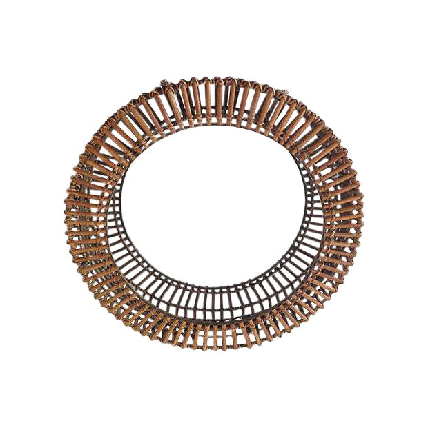 Rattan Albini-Style Round Mirror - Image 2 of 4
