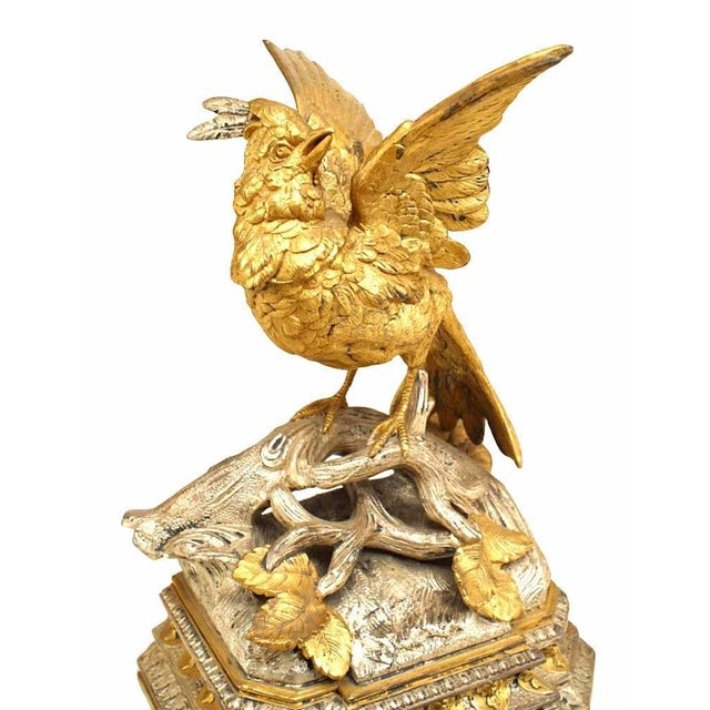Mid 19th Century Pair of French Victorian Silver and Gilt Bookends For Sale - Image 5 of 12