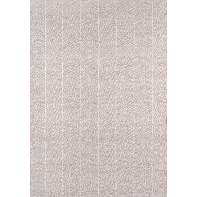 White Erin Gates by Momeni Easton Congress Brown Indoor/Outdoor Hand Woven Area Rug - 7′6″ × 9′6″ For Sale - Image 8 of 8