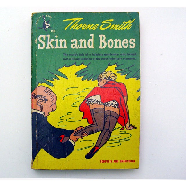 Skin and Bones, by Thorne Smith. Pocket Book paperback, 1948. The story of an unwilling skeleton in society, shelf wear,...