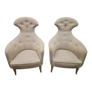 "1980s Kerstin Hörlin-Holmquist ""Stora Eva"" Chairs For Sale"