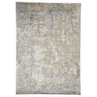 Transitional Area Rug With Oushak Pattern - 9′10″ × 13′10″ For Sale