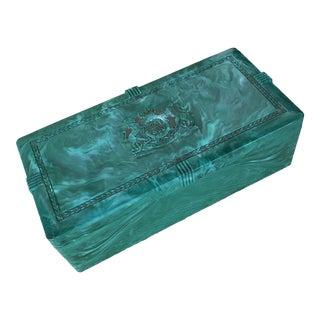 Vintage Faux Malachite Box For Sale