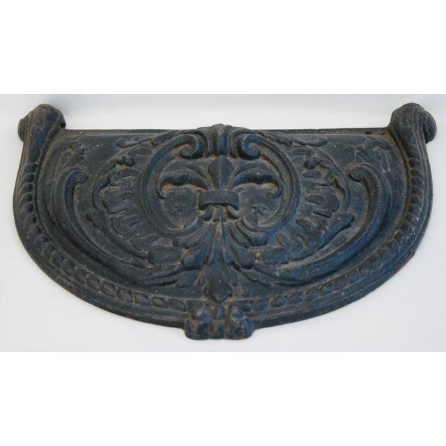 19th C. French Fleur-De-Lis Iron Relief Plaque - Image 5 of 8